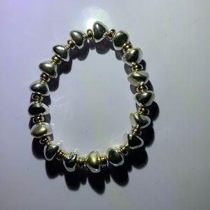 🗯3/$12! Nicole all metal beaded bracelet